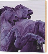 Horse Sculptures Wood Print