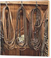 Horse Tack And Reins Wood Print