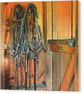 Horse Tack Wood Print