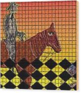 Horse With No Name Wood Print