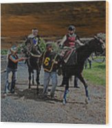 Horses 001 Wood Print