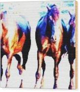 Horses-30 Wood Print