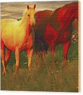 Horses Soft And Sweet Wood Print