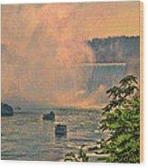 Horseshoe Falls Canadian Niagara Falls Wood Print