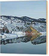 Horsetooth Reflections Wood Print by Julie Magers Soulen