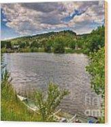 Horsetooth Reservoir Summer Scene Wood Print