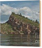 Horsetooth Reservoir View Toward Inlet Bay Wood Print