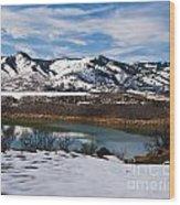 Horsetooth Reservoir Winter Scene Wood Print