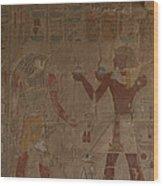 Horus Is Shown Receiving Gifts Wood Print