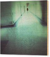 Hospital Hallway Wood Print