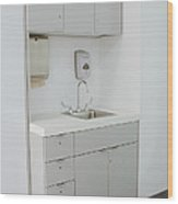 Hospital Sink Wood Print