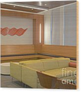 Hospital Waiting Room Wood Print