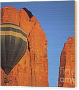 Hot Air Balloon Monument Valley 1 Wood Print