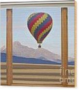 Hot Air Balloon Colorado Wood Picture Window Frame Photo Art Vie Wood Print