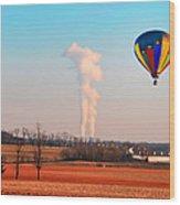 Hot Air Balloon Near Limerick Pa Wood Print