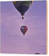Hot Air Balloon Race - 3 Wood Print