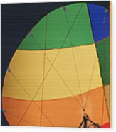 Hot Air Balloon Rigging Wood Print