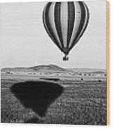 Hot Air Balloon Shadows Wood Print