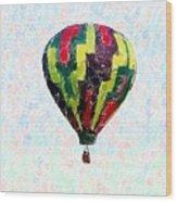 Hot-air-balloon Wood Print
