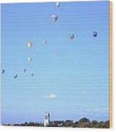 Hot Air Balloons Over Omaha Wood Print