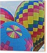 Hot Air Balloons Panorama Wood Print
