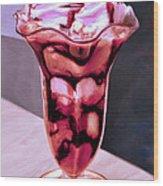 Hot Fudge Sundae Wood Print