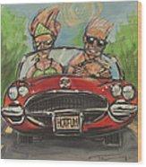Hot Fun Corvette Wood Print