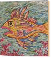 Hot Lips The Fish Wood Print
