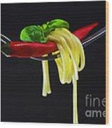 Hot Pasta  Wood Print
