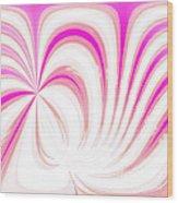 Hot Pink Swirls Wood Print