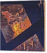 Hot Rust Wood Print