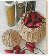 Hot Spice Wood Print