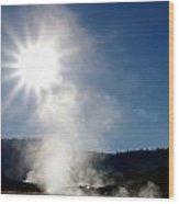 Hot Springs Sunshine Wood Print