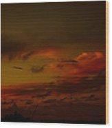 Hot Summer Night Sky Wood Print