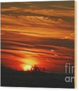Hot Summer Night Sunset Wood Print