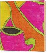 Hot Tea... Cold Juice Wood Print