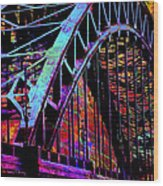 Hot Town Summer In The City Wood Print