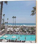 Hotel Del Coronado Pool  Wood Print