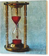 Hour Glass Dripping Blood Wood Print
