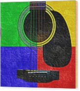 Hour Glass Guitar 4 Colors 1 Wood Print