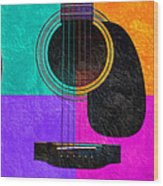Hour Glass Guitar 4 Colors 2 Wood Print