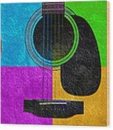 Hour Glass Guitar 4 Colors 3 Wood Print