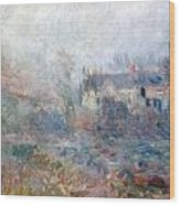 House At Falaise Wood Print by Claude Monet