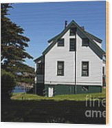 House At Point Reyes Calfornia . 7d16125 Wood Print