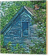 House In The Woods Art Wood Print