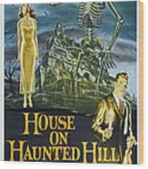 House On Haunted Hill, Alternate Poster Wood Print