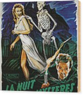 House On Haunted Hill, Carol Ohmart Wood Print by Everett