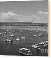 Houseboat Community Wood Print