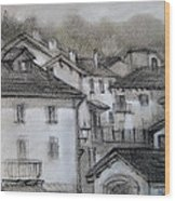 houses in Fiumalbo Wood Print