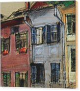 Houses In Transylvania 1 Wood Print